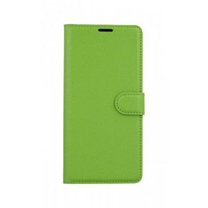 Flipové puzdro na Xiaomi Redmi Note 8 Pro zelené s prackou
