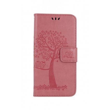 Flipové puzdro na Samsung A30s Ružový strom sovičky