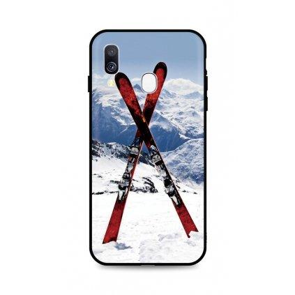 Zadný silikónový kryt DARK na Samsung A40 Skiing