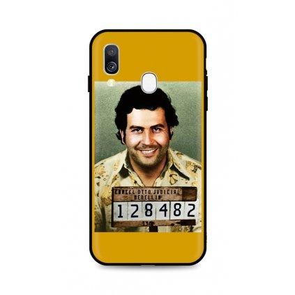 Zadný silikónový kryt DARK na Samsung A40 Pablo Escobar