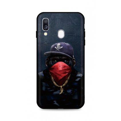 Zadný silikónový kryt DARK na Samsung A40 Monkey Gangster