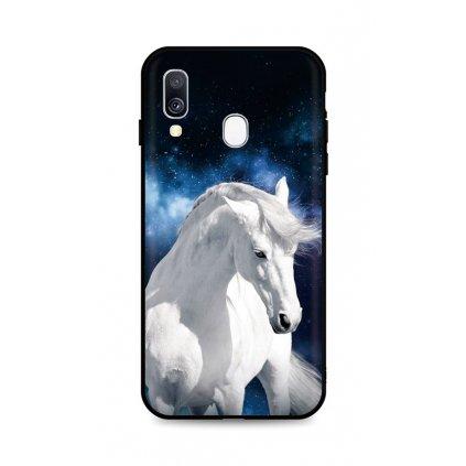 Zadný silikónový kryt DARK na Samsung A40 White Horse