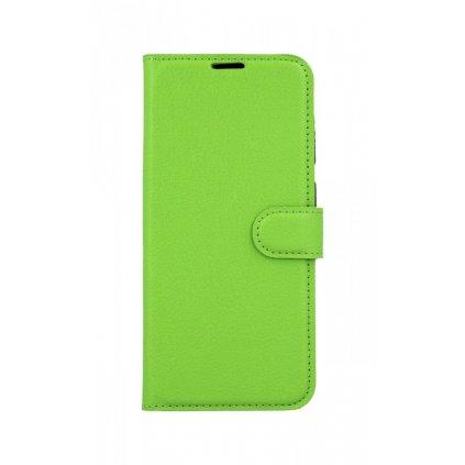 Flipové puzdro na Samsung A30S zelené s prackou