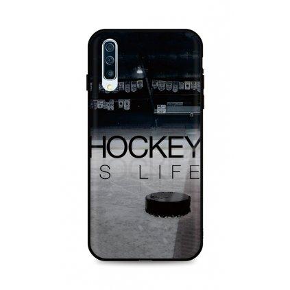 Zadný silikónový kryt DARK na Samsung A50 Hockey Is Life