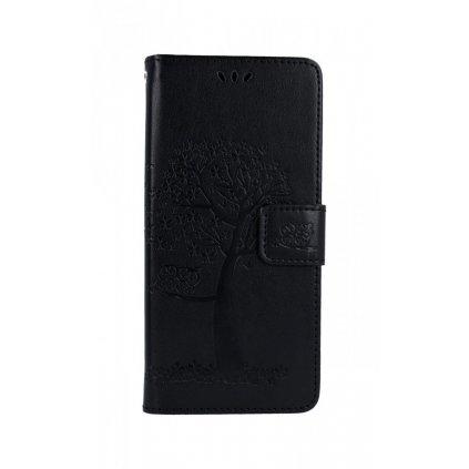 Flipové puzdro na Xiaomi Redmi Note 8 Pro Čierny strom sovičky
