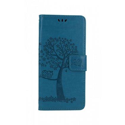 Flipové puzdro na Xiaomi Redmi Note 8 Pro Modrý strom malej sovy