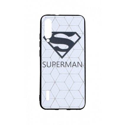 Zadný 3D silikónový kryt na Xiaomi Mi A3 Biely Superman