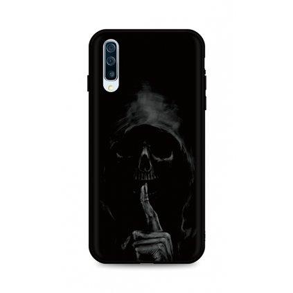 Zadný silikónový kryt DARK na Samsung A50 Dark Grim Reaper