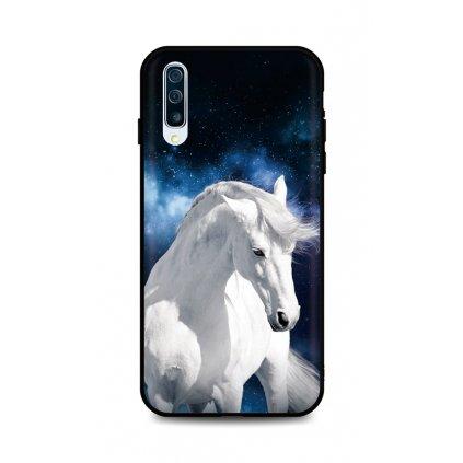 Zadný silikónový kryt DARK na Samsung A50 White Horse