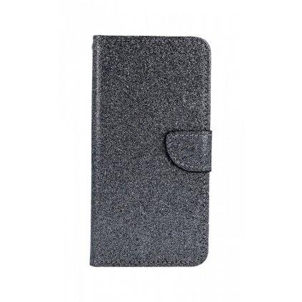 Flipové puzdro na Xiaomi Mi A3 glitter šedé