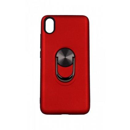 Zadný pevný kryt na Xiaomi Redmi 7A červený s prsteňom 2v1