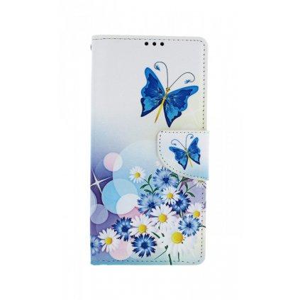 Flipové puzdro na Xiaomi Redmi Note 8 Pro Biele s motýlikom