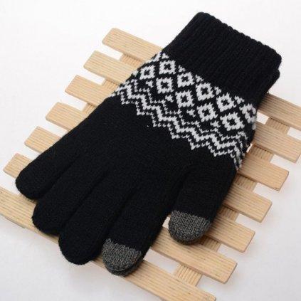 Dotykové rukavice pre mobilný telefón Scandinavia čierne veľ. M