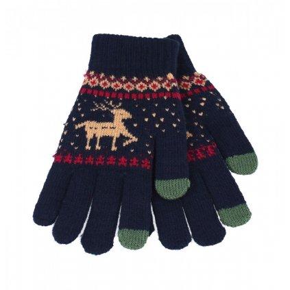 Dotykové rukavice pre mobilný telefón Sob modré veľ. M