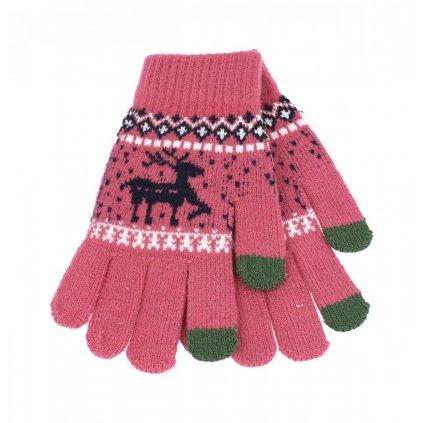 Dotykové rukavice pre mobilný telefón Sob ružové veľ. M
