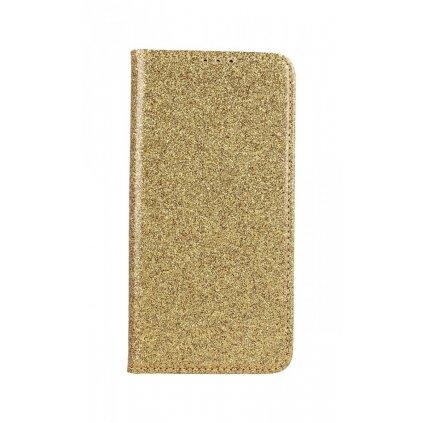 Flipové puzdro Magnet Book na Huawei Y5 2019 glitter zlaté