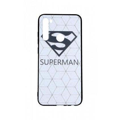 Zadný 3D silikónový kryt na Xiaomi Redmi Note 8 Biely Superman