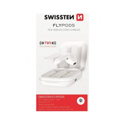 Bluetooth slúchadlá SWISSTEN Flypods biela