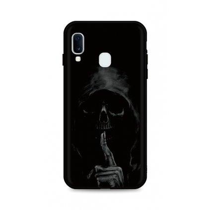 Zadný silikónový kryt DARK na Samsung A20e Dark Grim Reaper