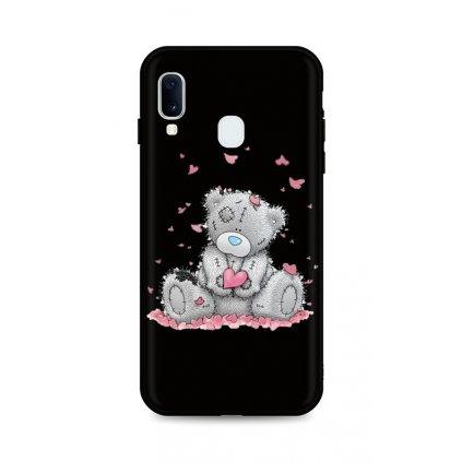 Zadný silikónový kryt DARK na Samsung A20e Lovely Teddy Bear