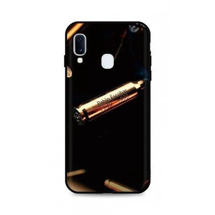Zadný silikónový kryt DARK na Samsung A20e Pablo Escobar Bullet