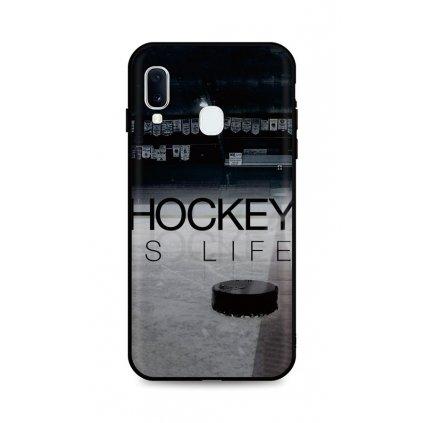 Zadný silikónový kryt DARK na Samsung A20e Hockey Is Life