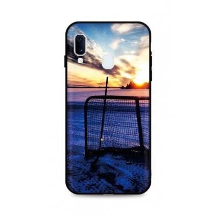 Zadný silikónový kryt DARK na Samsung A20e Hockey Sunset