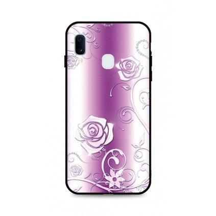 Zadný silikónový kryt DARK na Samsung A20e Abstract Roses
