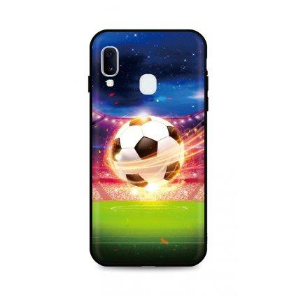 Zadný silikónový kryt DARK na Samsung A20e Football Dream