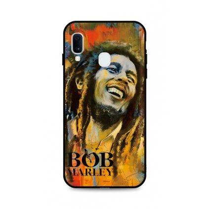 Zadný silikónový kryt DARK na Samsung A20e Bob Marley