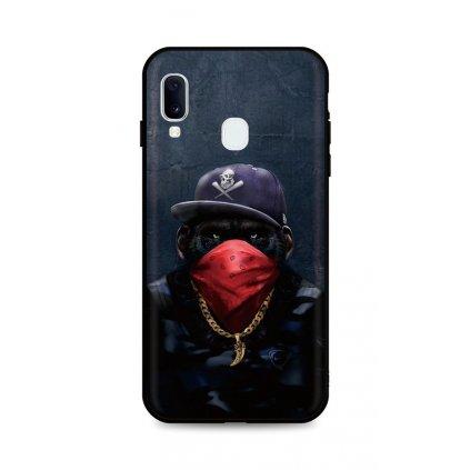 Zadný silikónový kryt DARK na Samsung A20e Monkey Gangster