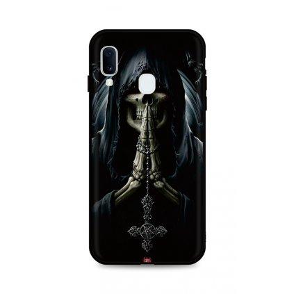 Zadný silikónový kryt DARK na Samsung A20e Grim Reaper