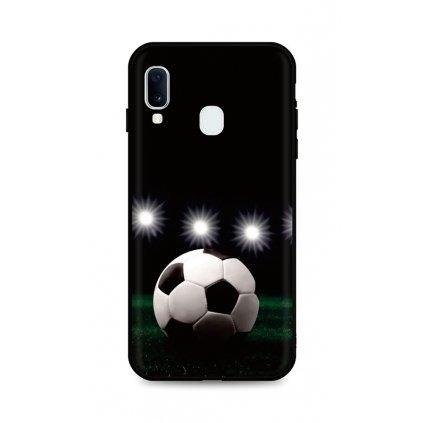 Zadný silikónový kryt DARK na Samsung A20e Football