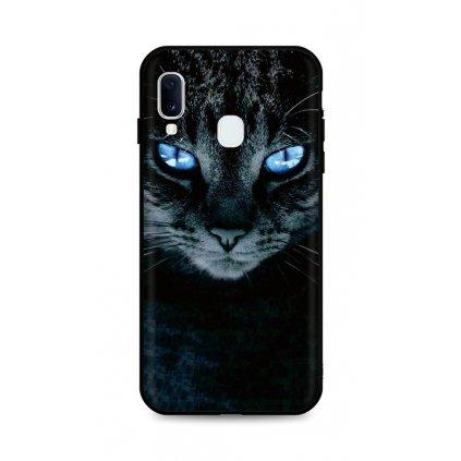 Zadný silikónový kryt DARK na Samsung A20e Dark Cat