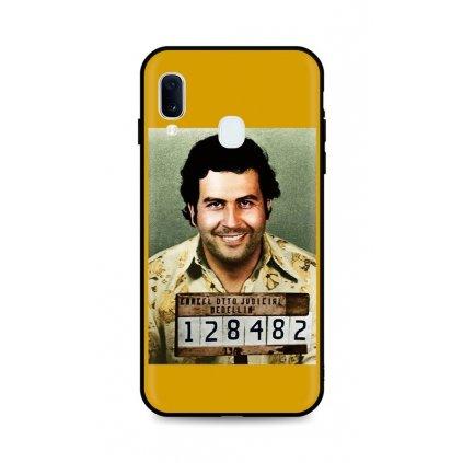 Zadný silikónový kryt DARK na Samsung A20e Pablo Escobar