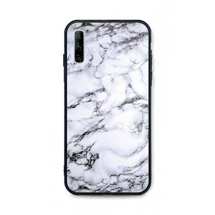 Zadný pevný kryt LUXURY na Huawei P Smart Pro Marble White