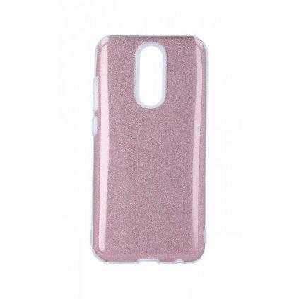 Zadný pevný kryt Forcell na Xiaomi Redmi 8 glitter ružový