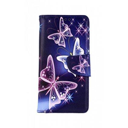 Knížkové puzdro na Xiaomi Redmi 8 Modré s motýlikmi