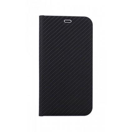 Flipové puzdro Luna Carbon Book na iPhone 11 čierne