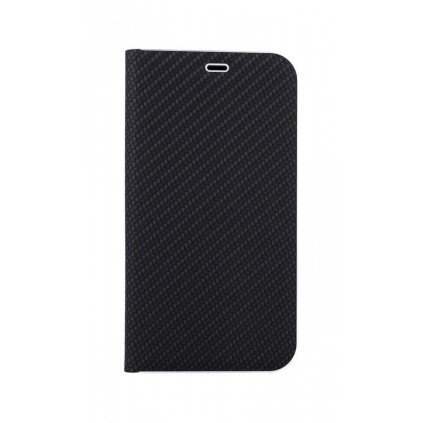 Flipové puzdro Luna Carbon Book na iPhone 11 Pro Max čierne