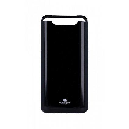 Zadný silikónový kryt Mercury Jelly Case na Samsung A80 čierny