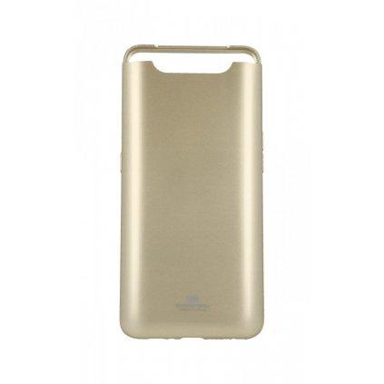 Zadný silikónový kryt Mercury Jelly Case na Samsung A80 zlatý