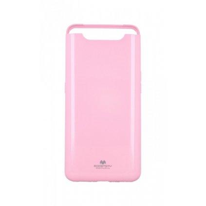 Zadný silikónový kryt Mercury Jelly Case na Samsung A80 ružový