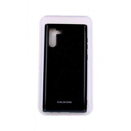 Zadný silikónový kryt Molan Cano Jelly na Samsung Note 10 čierny