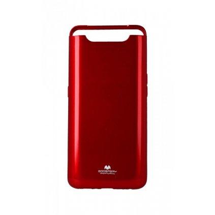 Zadný silikónový kryt Mercury Jelly Case na Samsung A80 červený