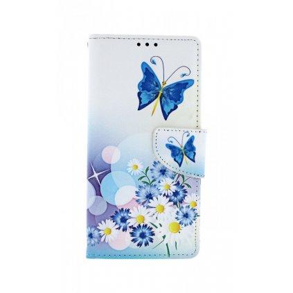 Flipové puzdro na Huawei P Smart Pro Biele s motýlikom