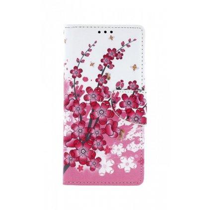 Flipové puzdro na Huawei P Smart Pro Kytičky textil