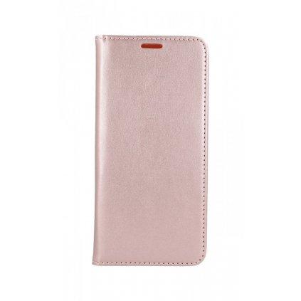 Flipové puzdro Magnet Book na Samsung A51 svetloružové