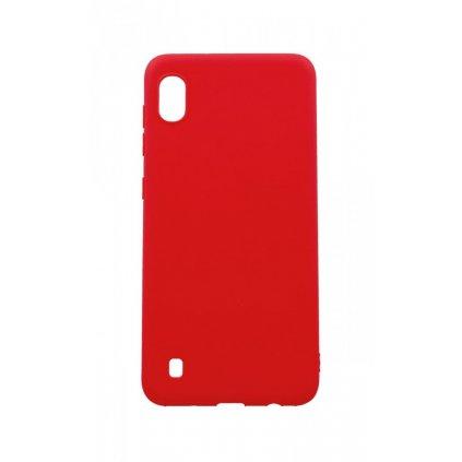 Zadný silikónový kryt Forcell Soft na Samsung A10 červený