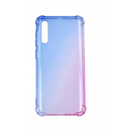 Zadný silikónový kryt na Samsung A30s Shock dúhový modro-ružový